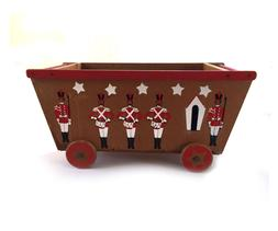1950s Wooden Toy Box Chest with Toy Soldiers
