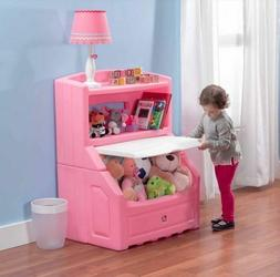 Step2 Lift and Hide Bookcase Storage Chest, Pink