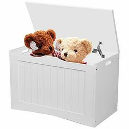 Hrooarem Kid's Toy Chest, Wooden Lift Top Storage Chest Ca
