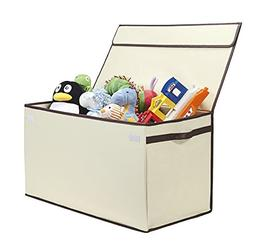 Large Kids Collapsible Toy Chest - Ivory
