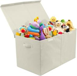 Sorbus Kids Large Toy Storage Chest with Lid, Beige