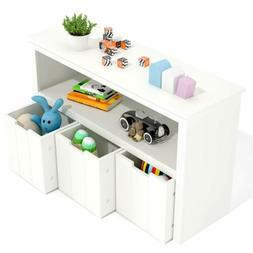 Kids Toy Storage Cabinet,Toddler's Room Chest Cabinet Organi