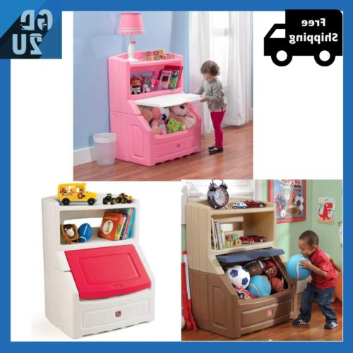 kids chest lift and hide storage plastic