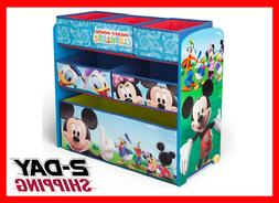 Mickey Mouse Toy Organizer Wood Chest Storage Rack Kids Room