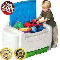 New Extra Large Kids Toy Chest Storage Two Removable Bins an