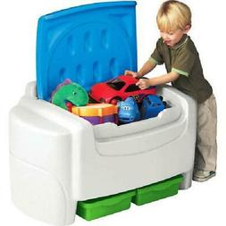 Little Tikes Sort N Store Kids Toy Storage Chest, White and