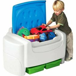 Little Tikes Sort N Store Kids Toy Storage Chest, Red and Bl