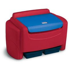 Sort 'n Store Toy Storage Chest, Red and Blue Bin Box Play R