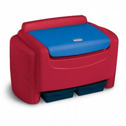 Little Tikes Sort 'n Store Toy Storage Chest, Red and Blue B