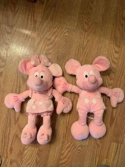 Disney Think Pink Minnie And Mickey Mouse RARE RARE Breast C