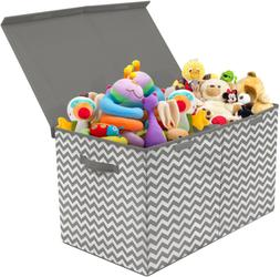Toy Chest Flip-Top Lid Kid Collapsible Storage Nursery Playr