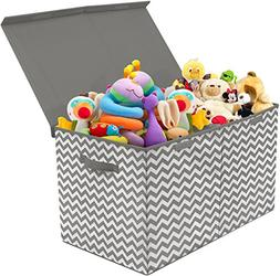Sorbus Toy Chest with Flip-Top Lid, Kids Collapsible Storage