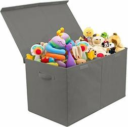 Toy Chest with Flip-Top Lid, Kids Collapsible Storage for Nu