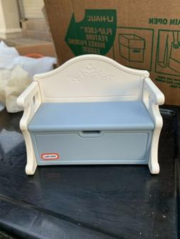 Little Tikes Vintage Dollhouse Toy Chest Bench Toy Box