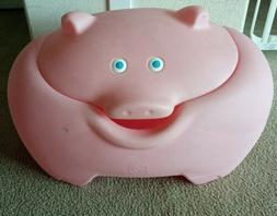 Vintage STEP 2 Large Pink Pig Toy Box Ice Chest Farmhouse St