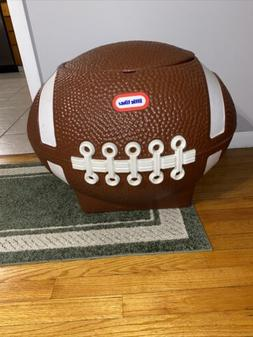 Vtg Little Tikes Football Toy Box Tailgate Ice Chest Drink C
